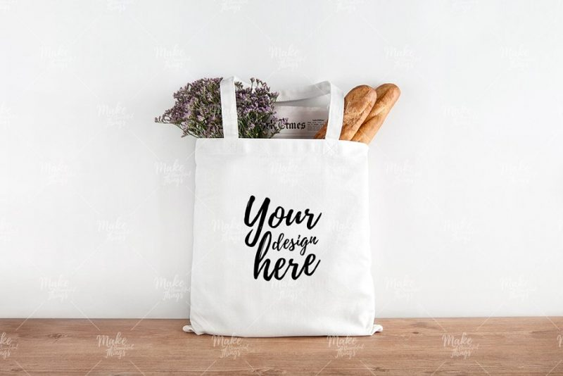 Layered Tote Bag Branding PSD