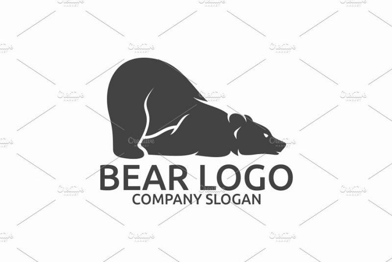 Lazy Bear Logo Branding Design