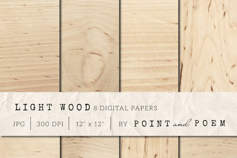 Light Wood Digital Papers