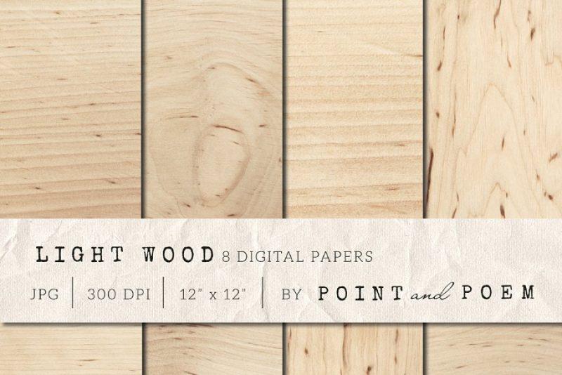 Light Wood Digital Papers