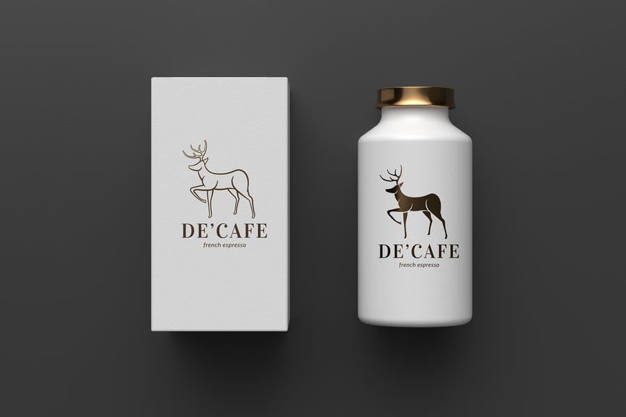 Linear Deer Logo Design Sample
