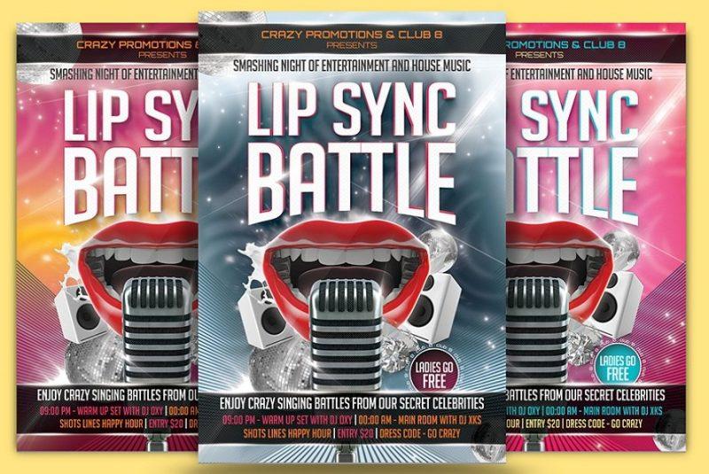 Lip Sync Battle Flyer Template