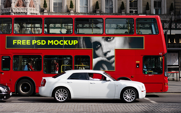 London Bus Ad Mockup