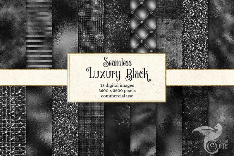 Luxury Black Paper Textures