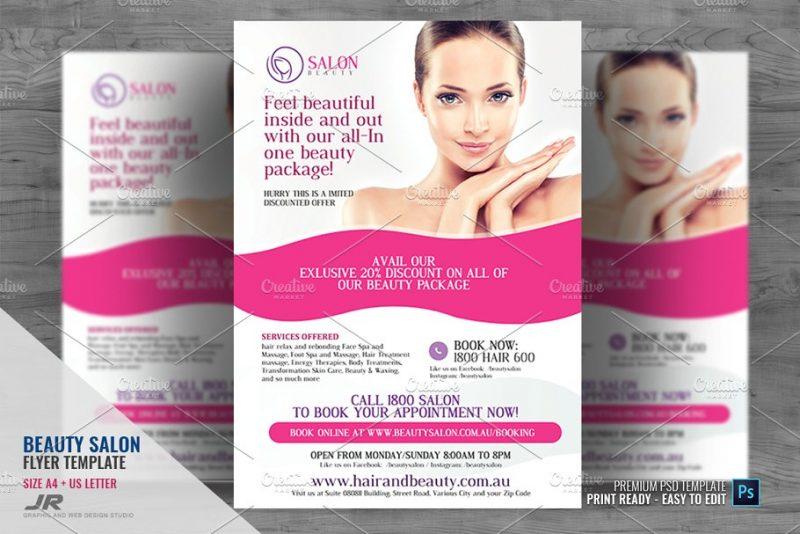 Makeup Flyer Template PSD