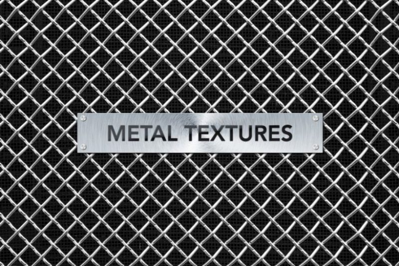 Meshed Metallic Texture Background
