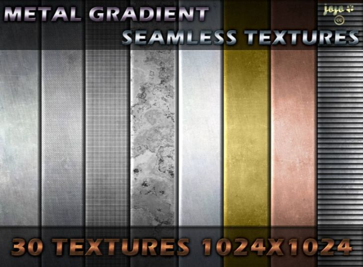 Metal Gradient Seamless Backgrounds