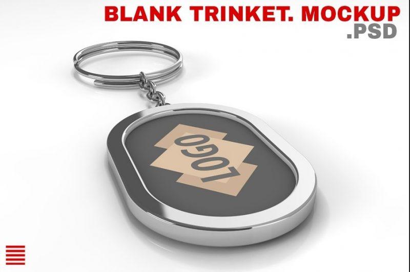 Metal Key Trinket Mockup