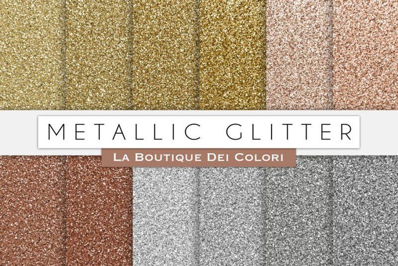 Metallic Glitter Digital Papers