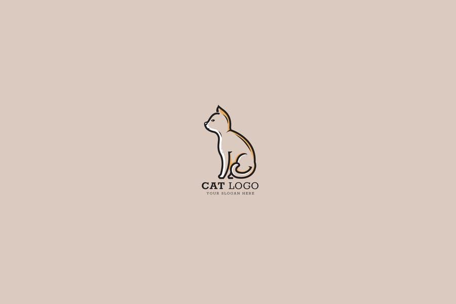 Minimal Cat Logo Design