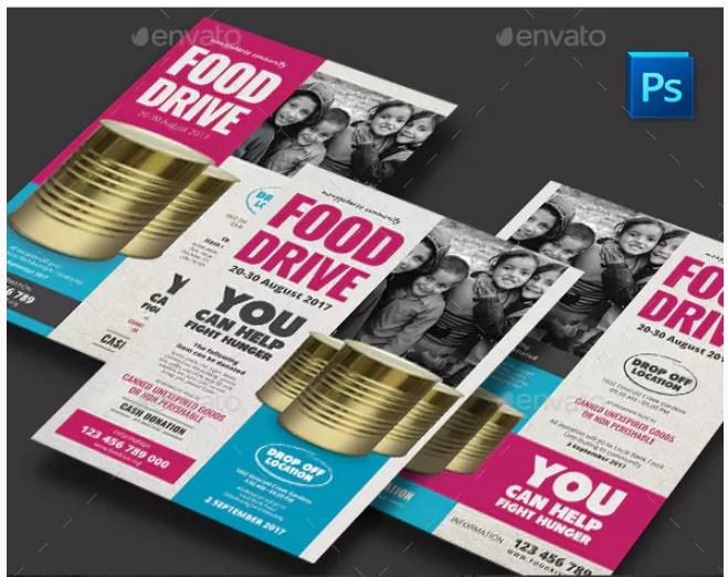 Minimal Food Drive Flyer