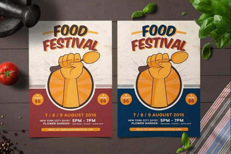 Minimal Food Festival Flyer
