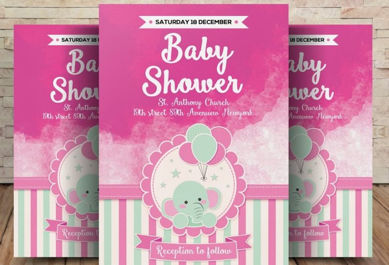 Modern Baby Shower Flyers