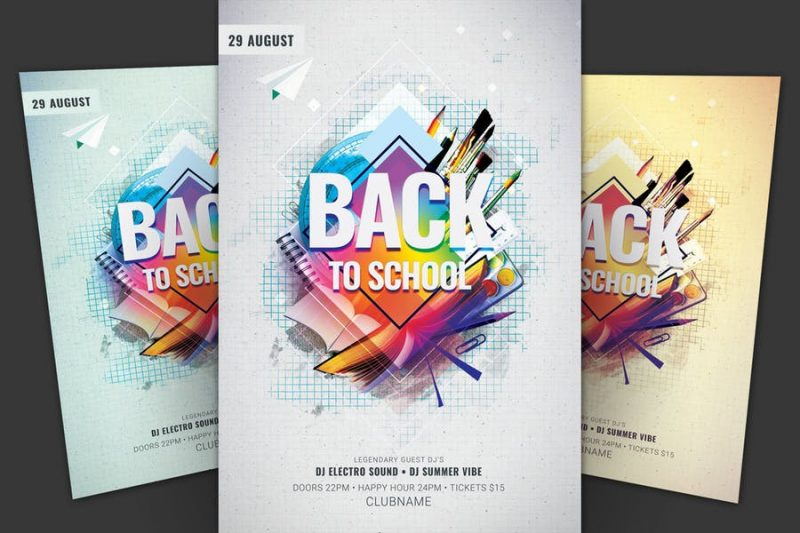 Modern Back To School Flyer