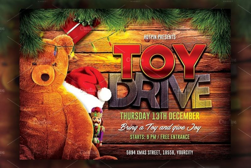 Modern Toy Drive Flyer