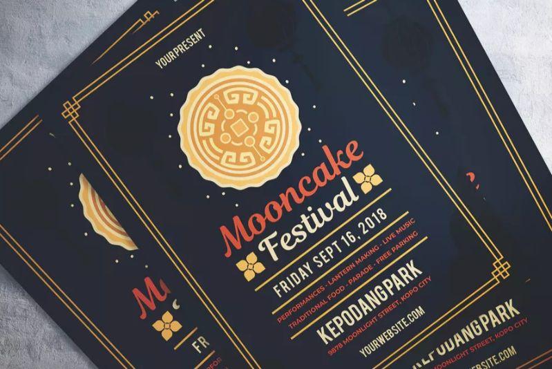 Mooncake Festival Flyer Template