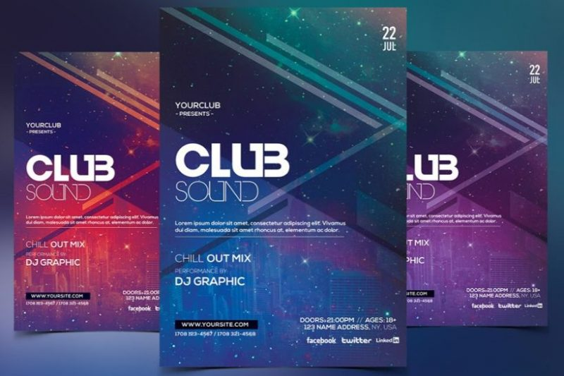 Music Event Party Flyer Template