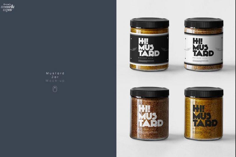 Mustard Jar Mockup PSD