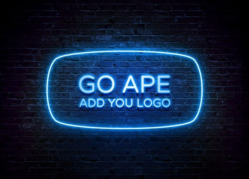 Neon Effects Logo Mockup