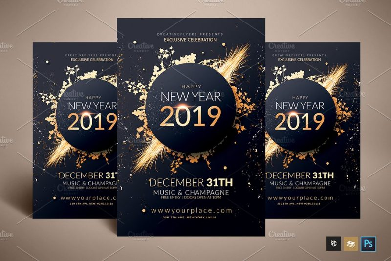 New Year Event Flyers Template