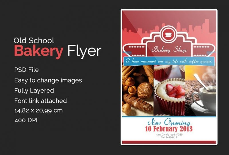 Old School Bakery Flyers