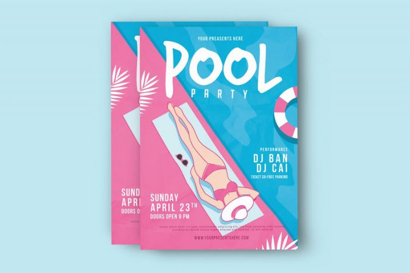 PSD Pool Party Flyer