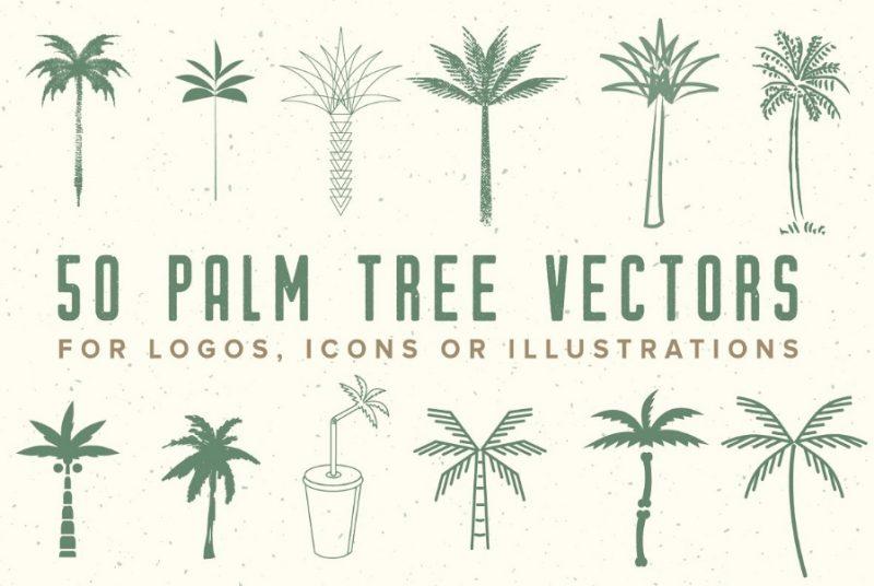 Palm Tree Vector Logos