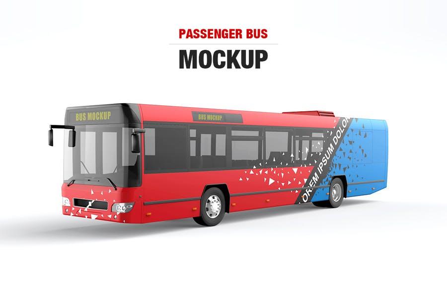 Passenger Bus Mockup PSD