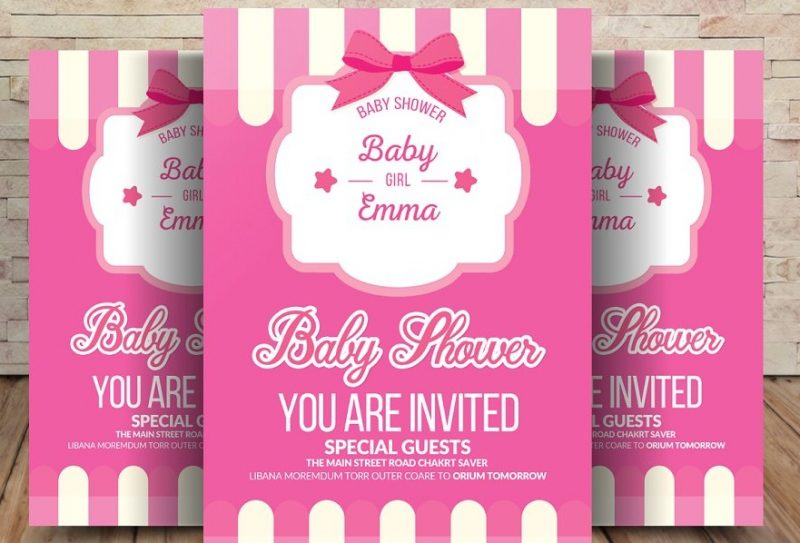 Pastel Style Baby Shower PSD