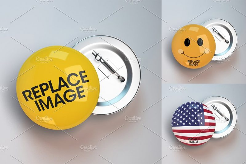 Photo Realistic Badge Mockup PSD