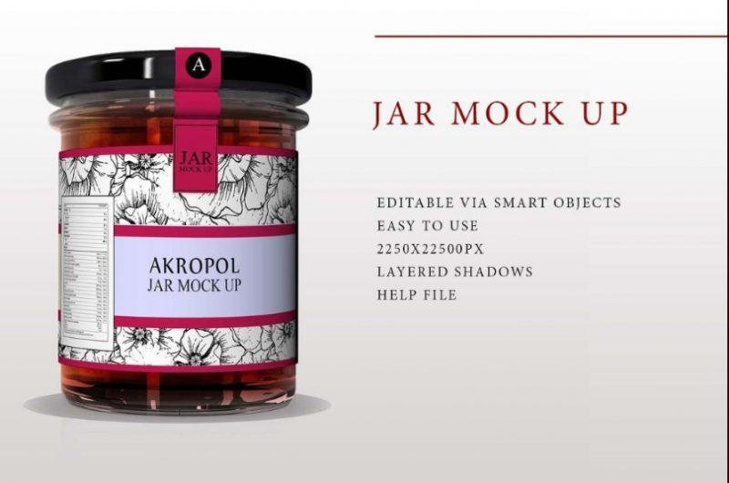 Photo Realistic Jar Mockup PSD