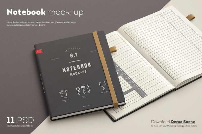 Photo Realistic Leather Book Mockups