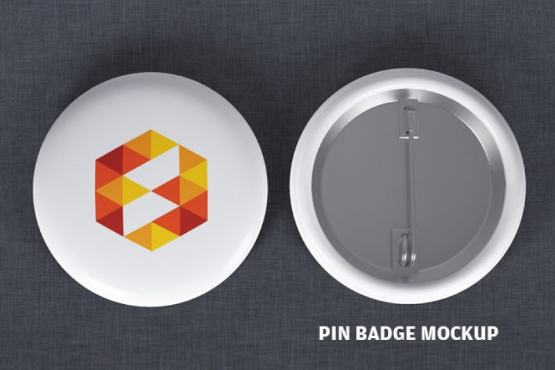 Pin Badge Mockup PSD