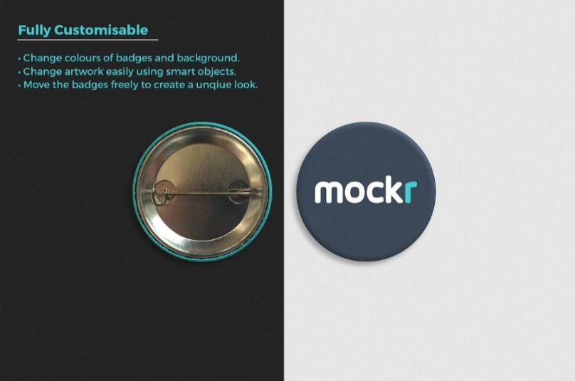 Pin Branding Mockup