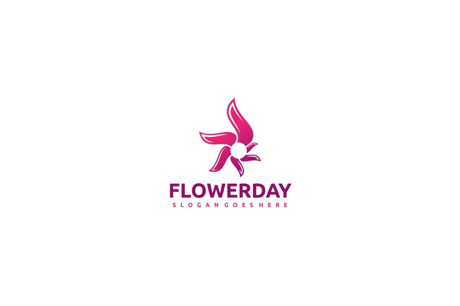 Pink Flower Identity Design