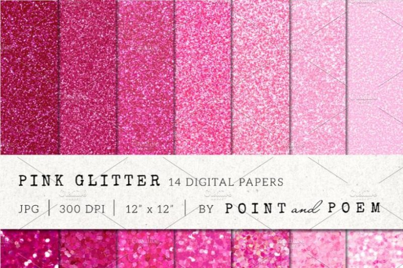 Pink Glitter Digital Papers