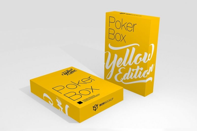 Poker Cards Box Design PSD