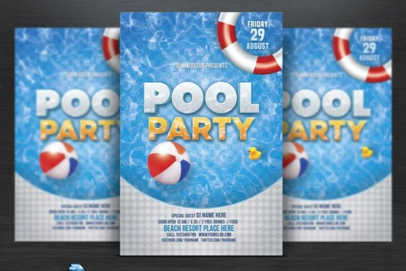 Pool Party Flyers PSD