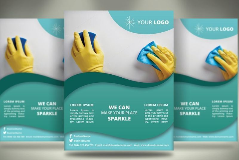 Print Ready Cleaning Service Flyer