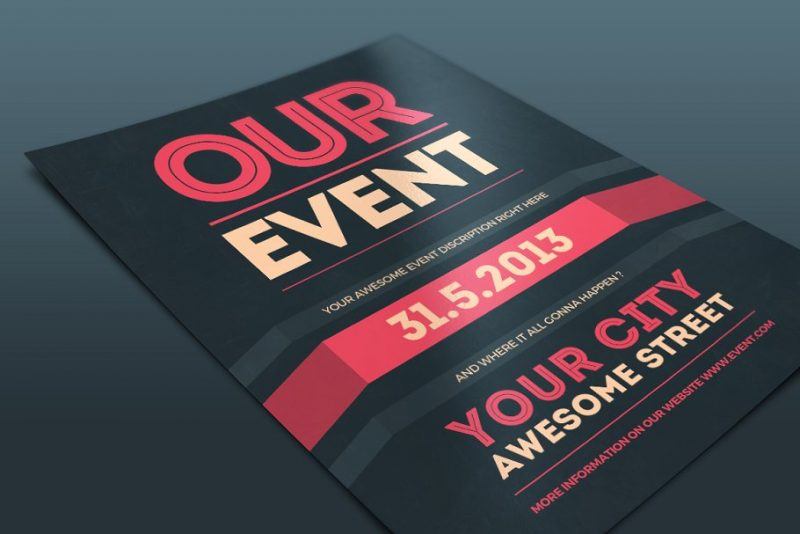 Print Ready Event Flyer PSD