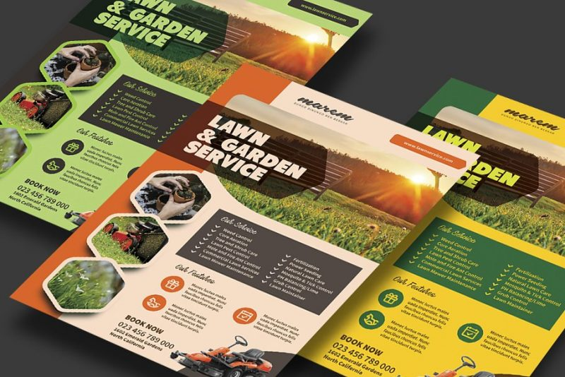 Print Ready Lawn Service Flyer Template