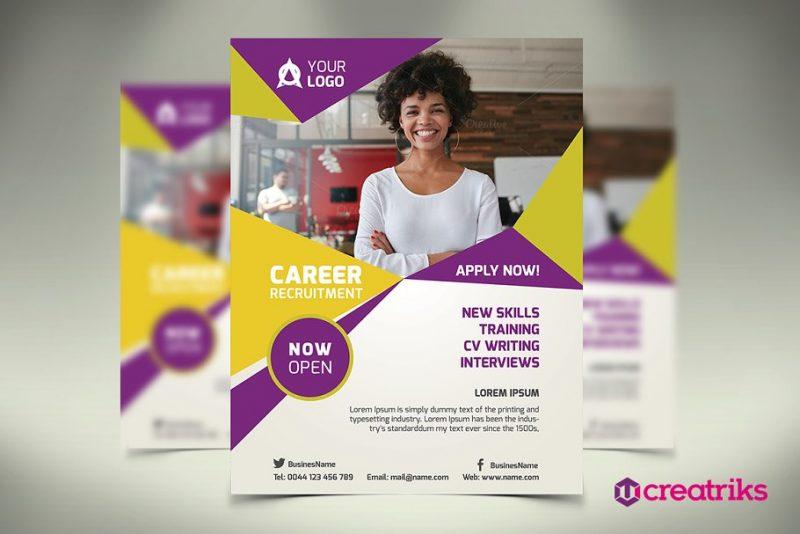 Print Ready Recruitment Flyer Template