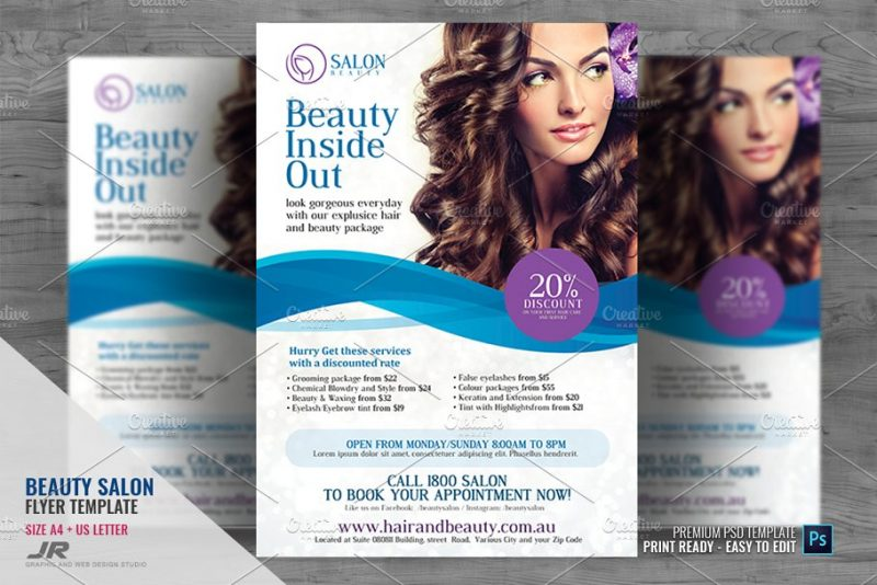 Professional Hair Flyers Template