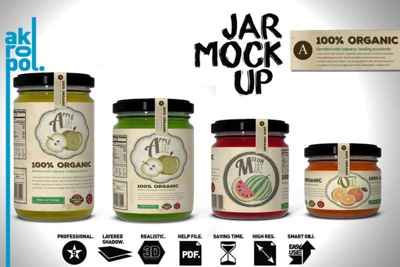 Professional Jam Jars Mockup Set