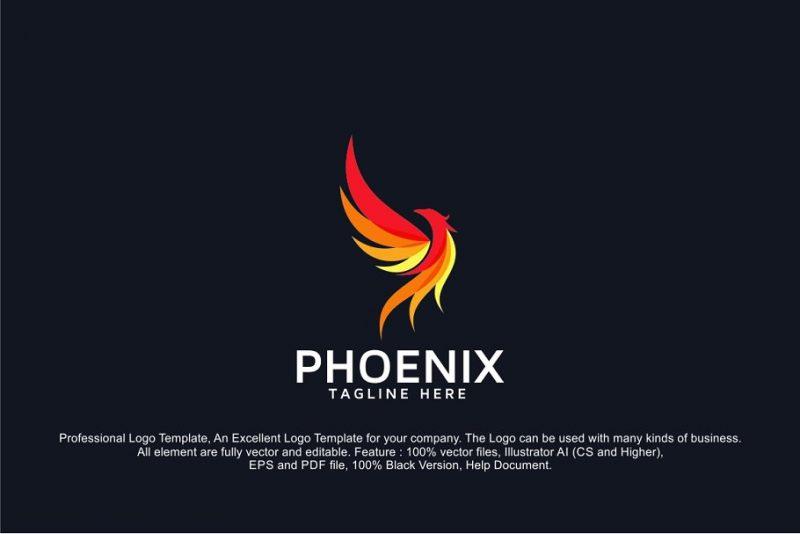 Professional Phoenix Logo Template