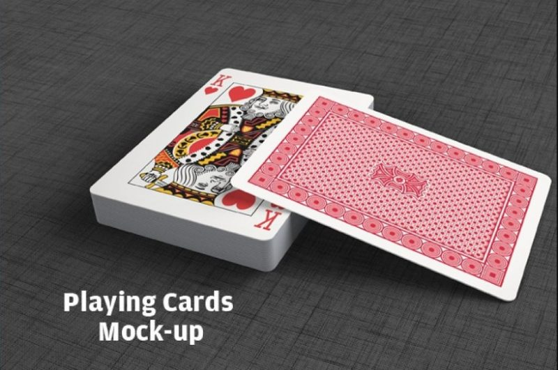 Professional Playing Cards Mockup