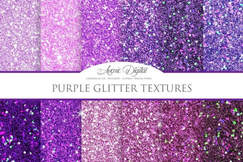 Purple Glitter Textures Background