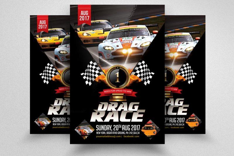Racing Car Show Flyers