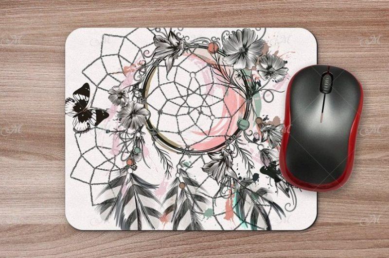 Realistic Mouse Pad Design Presentation PSD