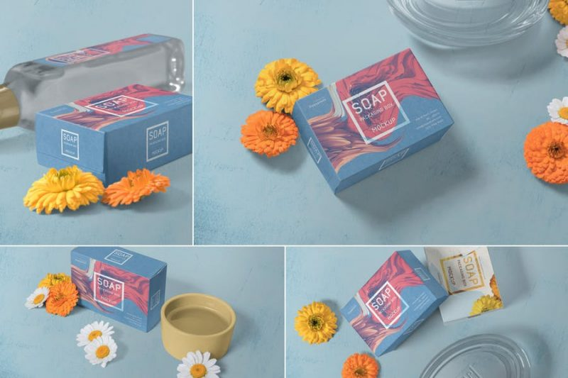 Realistic Soap Box Mockups